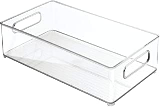 iDesign 70530M3 Plastic Refrigerator and Freezer Storage Bin, BPA- Free Organizer for Kitchen, Garage, Basement, Set of 3,...
