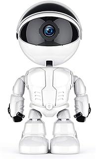 YWT Robot de cámara WiFi Super HD 1080P Monitor de cámara para bebé Mascota niñera Audio bidireccional visión Nocturna y visualización remota admite Tarjeta SD de 128GB