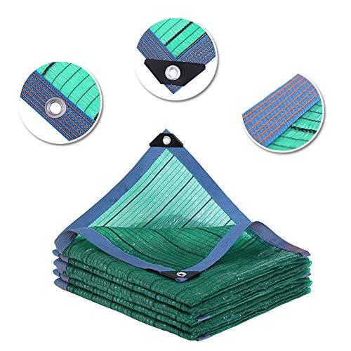 LRZLZY Protector Solar Pantalla de Tela 95% Cortina de Sun Tela Pegada Edge con Ojales for Pergola Invernadero Jardín, tamaños múltiples (Color : Green, Size : 3X4M)