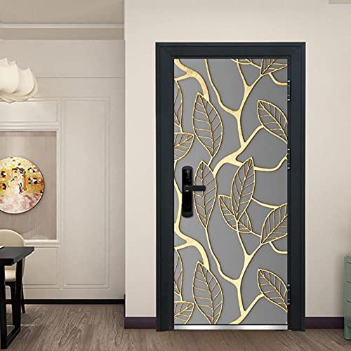 LBMT 3D Tür Aufkleber Kreative Dekoration Wandbild, Schlafzimmer Wohnzimmer Hintergrund Tapete Tapete-88X200.