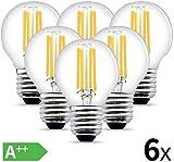 HISAYSY Bombilla LED E27 4W G45 Bombilla de pelota de...