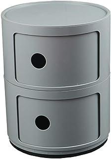 Chambre à Coucher avec tiroir Armoire en Plastique Unité de Rangement Ronde Table de Chevet Meubles de Salle de Bain FENGM...
