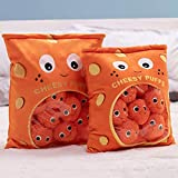 YSGE Plushies Doll a Bag of Cheesy Puffs Toy Stuffed Soft Snack Pillow Plush Puff Toy Kids Toys Birthday for Child,Cheese Puff Stuffed Toy Game Pillow Cushion Gift for Girlfriend,---Include 6 Balls.