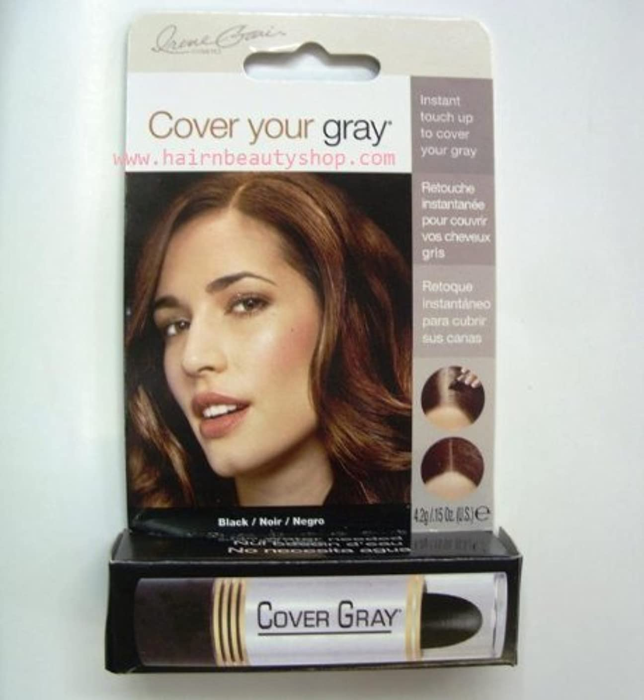 懲らしめスロット自動Cover Your Gray Instant Touch Up Stick BLACK by creme gari cosmetics