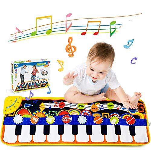 Piano Mat Muziek Tapijt Speelgoed JHSH Toetsenbord Dans Matten 10 Muziek Toon Piano Keyboard Playmat Draagbare Zingen Touch Deken voor Kinderen Speelgoed Vroeg Onderwijs Speelgoed Gift voor Verjaardag Kerstmis Festival