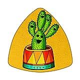 Posavasos para bebidas – Set de 6 posavasos – Regalo de inauguración de la casa – Juego de 6 Mexico Cactus Amarillo