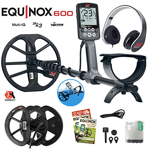 "Minelab Equinox 600 Metal Detector Bundle with 6"" Equinox 06 Double-D Waterproof"