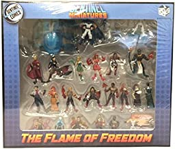 HAND PAINTED -Sealed New- Sentinels of the Multiverse : SENTINEL TACTICS : FLAME OF FREEDOM -MINIATURES SET