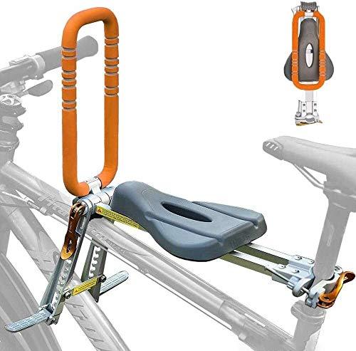 CHZ Klapprad Fahrrad-Kindersitz electrombile preposed Sicherheitssitze mit Armlehne und Pedale for Kinder Leichter Mountainbikes, Trekkingbikes Easy to Rate 619
