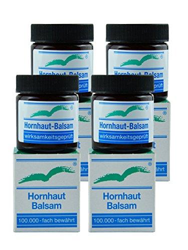 Badestrand Kosmetik Hornhautentferner, Anti-Hornhaut, sanfte Fußpflege, ergiebige Creme, 4-er Spar-Pack bis zu 75% der Hornhaut weg in 28 Tagen