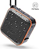 Enceinte Bluetooth Portable,Étanche Haut-Parleur de Douche sans Fil IPX7 Parleur à Voix Haute stéréo de Bluetooth 5.0 TWS avec Batterie 2000mAh,AUX, carte TF,radio FM, pour la Plage,Piscine et Cuisine