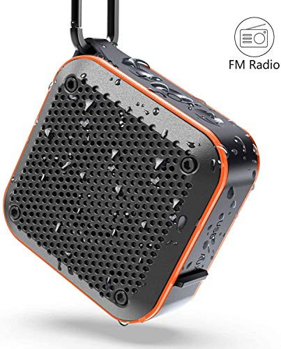Waterproof Bluetooth Speaker, Shower IPX7 Waterproof Wireless Outdoor Mini...