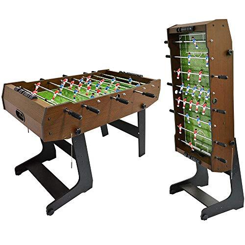 WIN.MAX WinMax Kickertisch inkl. 2 Bälle, Klappbar mit Abdeckung Schutz Staub, 121x61x85 Faltbare Tischkicker Tischfußball