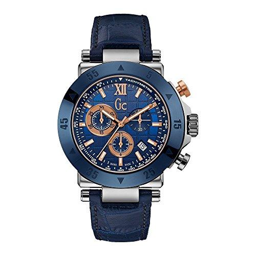 GUESS Herren Chronograph Quarz Uhr mit Leder Armband X90013G7S