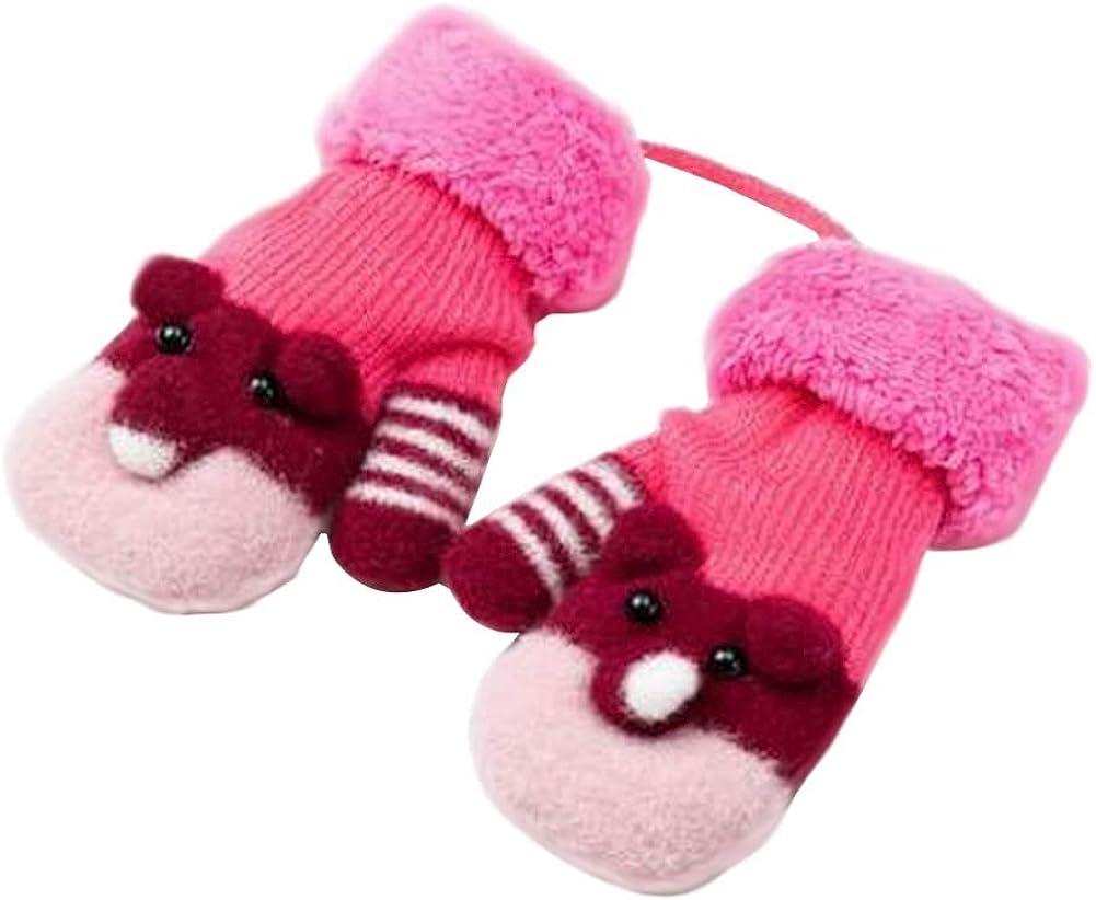 Lovely Knitted Baby Mittens Warm Winter Children Mittens Baby Gloves #12