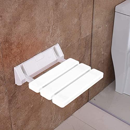Asiento De Ducha Plegable Taburete Montado En La Pared Asiento De Baño Plegable Sostiene hasta 130 Kg para Bañarse Ancianos Discapacitados Y Movilidad Limitada