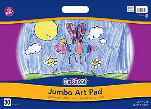 Art Street - Tapis de Sol géant avec poignée pour griffonnage/Peinture et Dessin, 30 Feuilles