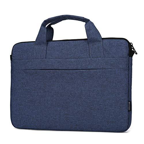 Laptoptasche,multifunktionale Polyester-Laptoptasche, Verstellbarer Schultergurt & unterdrückter Handgriff, tragbarer Dokumentenordner,Navy Blau,15.6