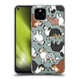 Head Case Designs Australian Shepherd Dog Breed Patterns 3 Soft Gel Case and Matching Wallpaper Compatible with Google Pixel 4a 5G