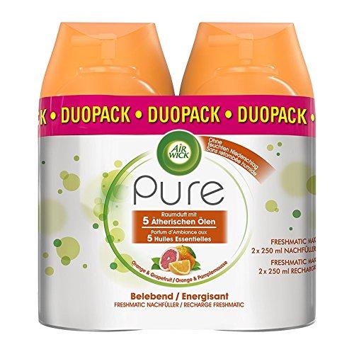 Air Wick Freshmatic Max Automatisches Duftspray (Nachfüller Pure Belebend), Orange und Grapefruit, 2er Pack (2 x 250 ml)