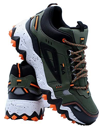Fila Mens Oakmont Tr Mid Sneaker,Olive Orange,9.5