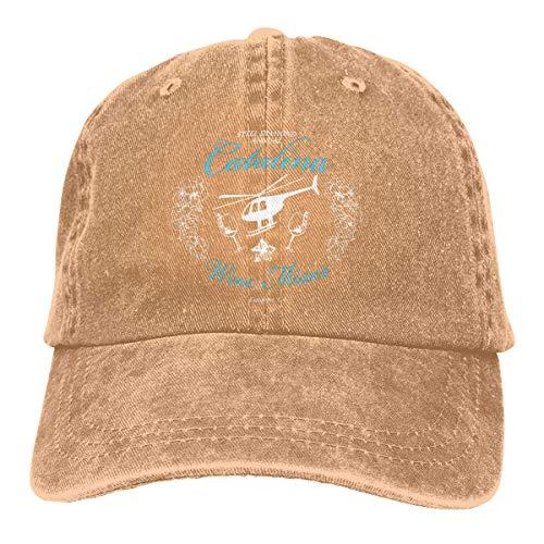 XCNGG Catalina Mezclador de Vino Anual Unisex Sombreros de Vaquero Deporte Sombrero de Mezclilla Gorra de béisbol de Moda Negro