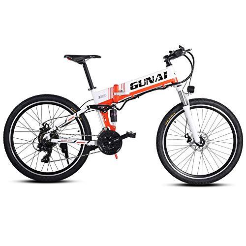 Xiaoyue Elektro-Mountainbike, 500W 26-Zoll-City Bike mit Rear Seat mit 48V versteckter Batterie und Scheibenbremse lalay
