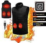 KOBWA Elettrico riscaldato Gilet Gilet da Uomo e da Donna Gilet riscaldato Vestiti Cappotto Invernale Regolabile 5 V di Ricarica USB Sport Esterno Caldo Termica Gilet, EU-S
