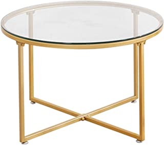 Amazon Fr Table Basse Verre Or
