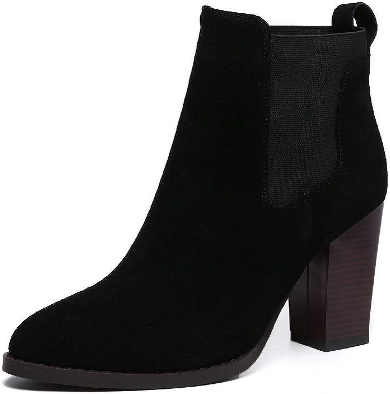 AdeeSu Womens Warm Lining Solid Nubuck Urethane Boots SXE04000