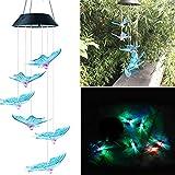 VICKY-HOHO LED Solar Powered Schmetterling Windspiel leuchten Licht Home Garten hängenlampe Dekor