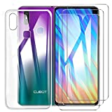 HYMY Case Cover + 3X Tempered Film for Cubot Max 2 6.8