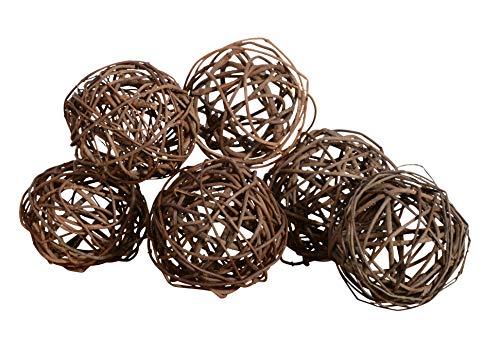 Set of 6 Natural Vine Balls 4 Inches