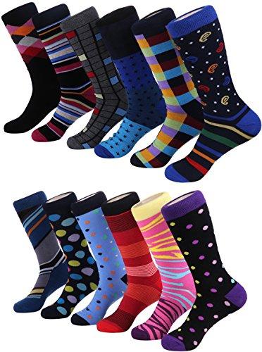 Marino Men's Dress Socks - Colorful Funky Socks for Men - Cotton...