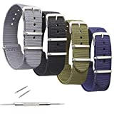 Best Nato Straps - 4 Pack Nylon Watch Bands,OWNITOW Canvas Fabric Ballistic Review