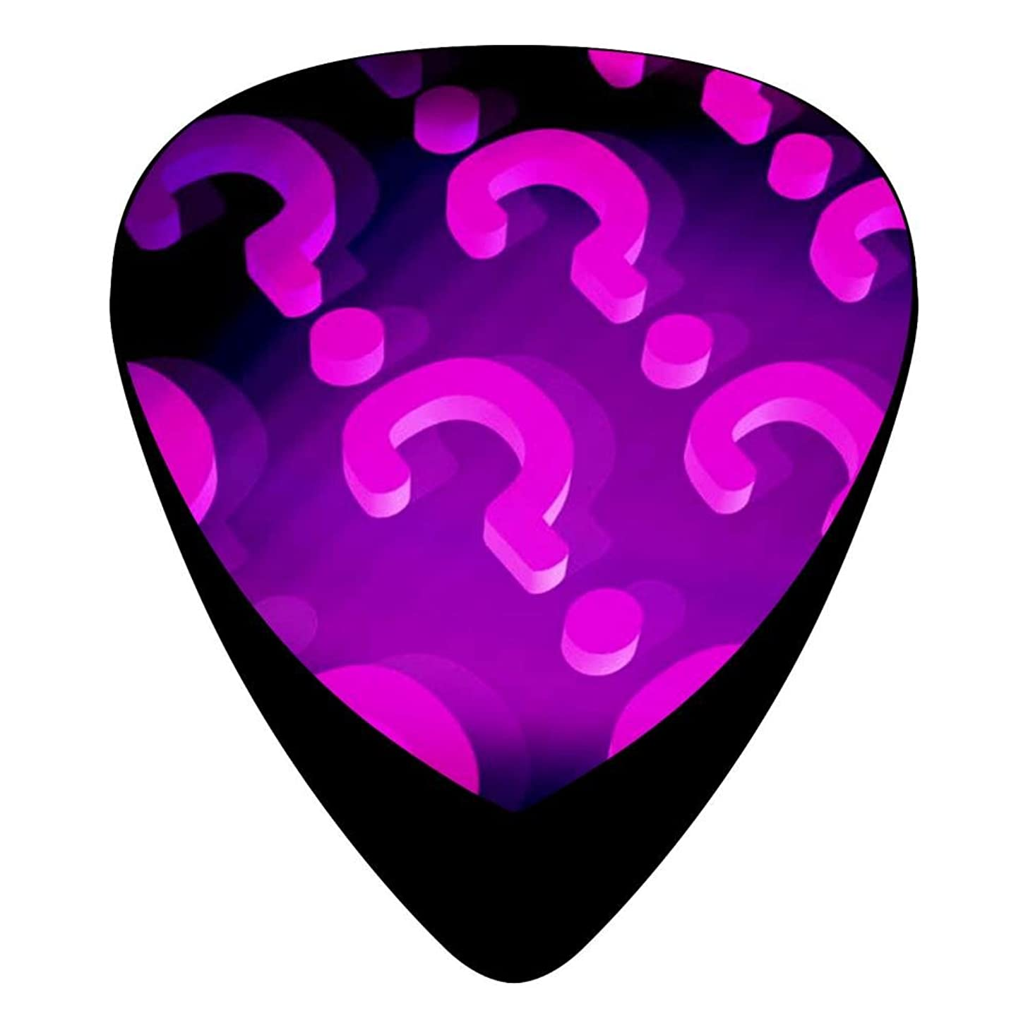 Guitar Picks Celluloid Question Mark Color 12 Pack Shape For Acoustic Guitar Mandolin Electric Guitar And Bass