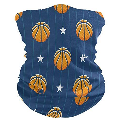 Sport Basketball Stripe Star Face Sun Dust Mask Neck Gaiter Multifonctionnel Magic Scarf Bandana Headbands pour Outdoor Festivals Sports