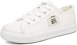 [topmodelss] バリ フライパン デニム布靴 白い靴 ストラップ