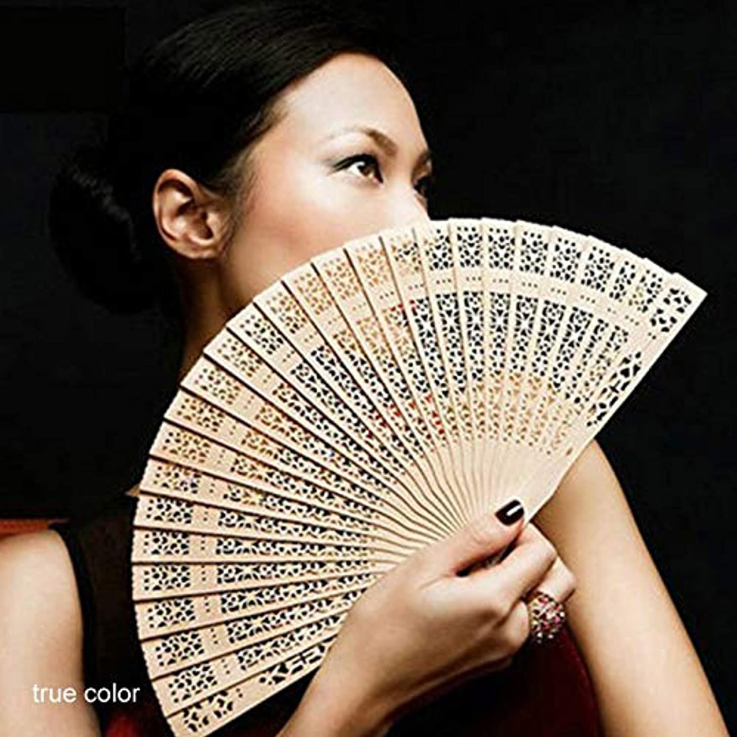 Party Favors - Party Favor Home Decor Crafts Fragrant Wood Bamboo Wooden Fan Hand Fans Summer Accesory Weddings - For Sunglasses Visors Train Bags Lollipops Travel Educational Teen With