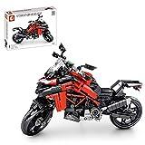 ZCXX Juego de construcción de 710 piezas Custom Motorcycle Set de ingeniería de carreras Moto Off Road Motorbike compatible con Lego Technic