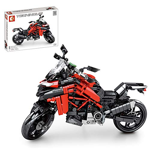 TASS 710St. Technik Straßenmotorrad Rennen Motorrad Bausteine Bausatz Kompatibel mit Lego Technic.