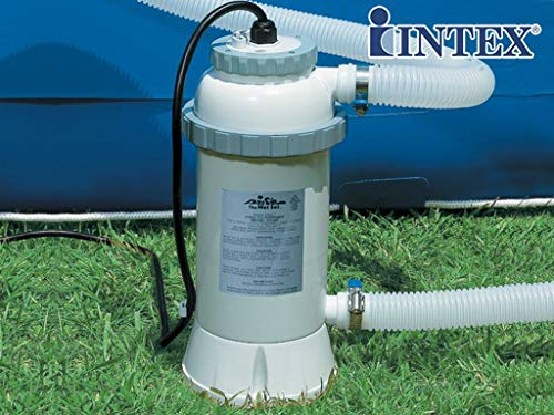 Intex - Calefactor eléctrico para piscina sobre suelo (3 kW, 12 m3)