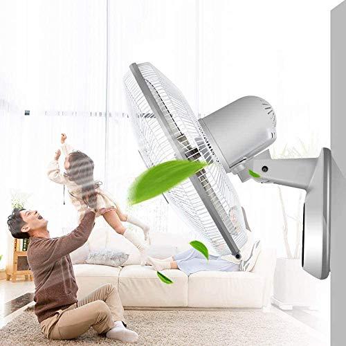 TOPNIU Ventilador de Pared oscilante Interior de la Pared Ventilador eléctrico, Ventilador de Pared oscilante con Control Remoto y Temporizador, Suministro de Aire de Gran Angular (3 velocidades)