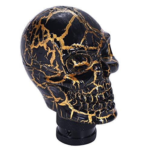 Bashineng Skull Gear Shifter Handle, Devil Head Shape Auto Car Stick Shift Knob Fit Most Manual Transmissions (Black Pattern)