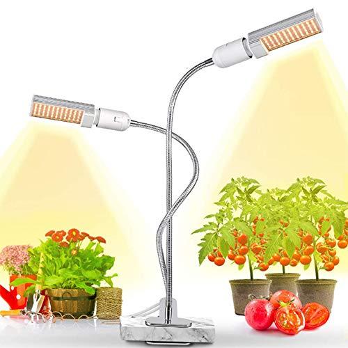 Best Quality Full Spectrum Led Plant Growth Light E27 45w Double Goose Neck Indoor, Led Grow Light - Grow Tent Combo, Aquarium Plant Grow Light, Light Grow, Growblu Led, Grow Light Bulb