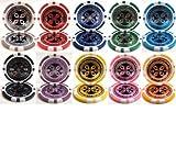 Deluxe Ultimate Laser 14gm Poker 10 Chip Sample Set - Includes Bonus Chip Spacer!