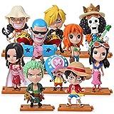 10 unids / Set Figura de una Pieza de Anime Robin Luffy Zoro Nami Sanji Usopp PVC Figuras de acción Modelo de Juguete...
