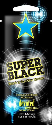Devoted Creations – Super Black, ligne Glamour – Activateur de bronzage professionnel pour centre esthétique adapté à toutes les peaux – 15 ml