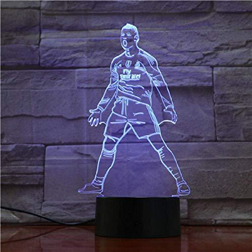USB 3D LED Luz nocturna Sensor táctil 7 Lámpara de mesa que cambia de color...