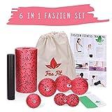 Fas Fit Faszienrolle - Foam Roller Set 6teilig - Massagerollen